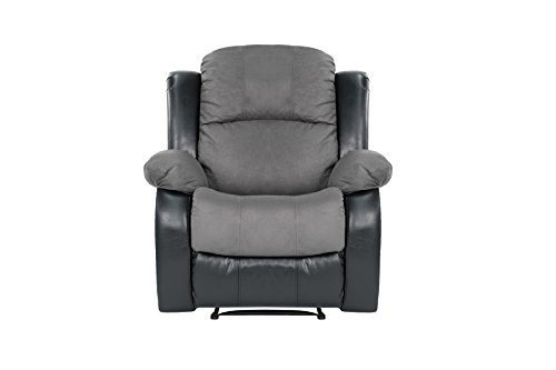 Classic and Traditional Brush Microfiber Recliner Chair ...