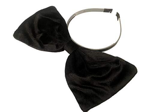 (Velvet Bow Headband: H2 (Velvet Black))