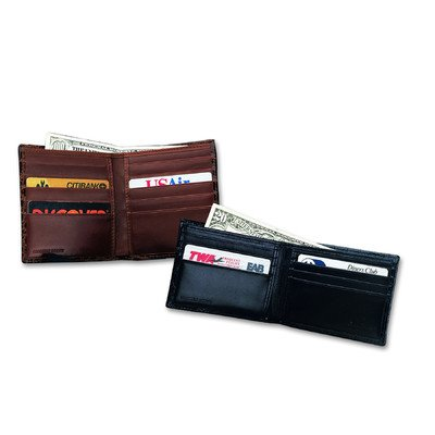 Crocodile Bidente Slim Wallet, Black (US271)