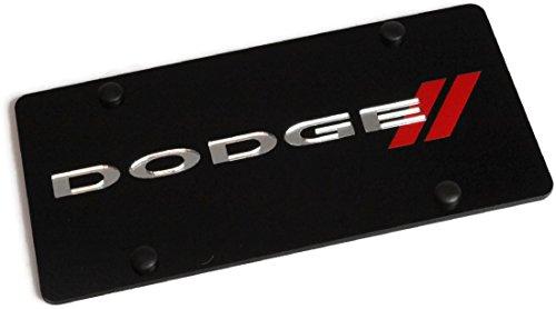 Eurosport Daytona Laser Dodge Red Stripes License Plate Frame 3D Novelty Tag - Official -