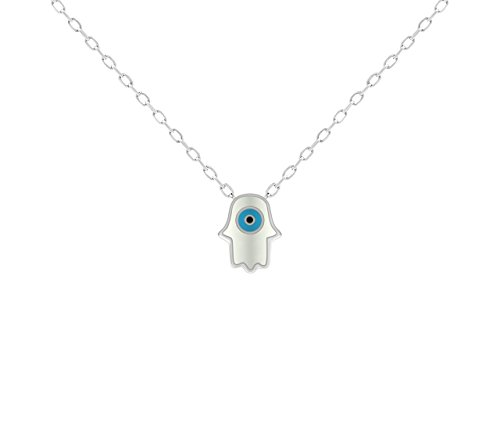 Hamsa and Evil Eye Pendant in Sterling Silver To Watch Over & Protect You   Alef Bet by Paula