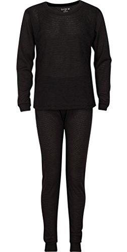 kids black thermal underwear - 6