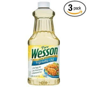 Pure Wesson 100% Natural Vegetable Oil 24 Fl Oz ( Pack of 3)