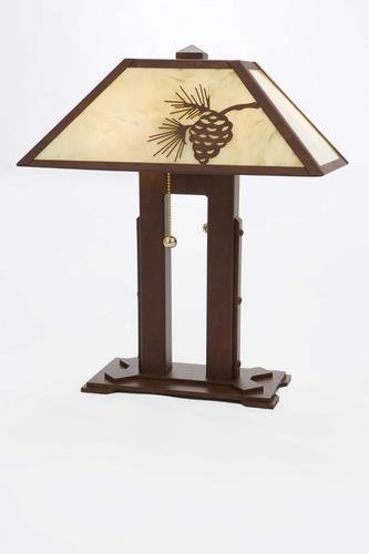 Mission Double Desk Lamp (Pinecone Mission Table Lamp)
