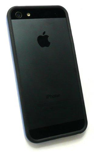 Emartbuy ® Pack Stylet Pour Apple Iphone 5 Mini Metallic Bleu Stylus + Moulé Butoir Gel Cover / Case Bicolore Bleu / Noir + Protecteur D'Écran Lcd