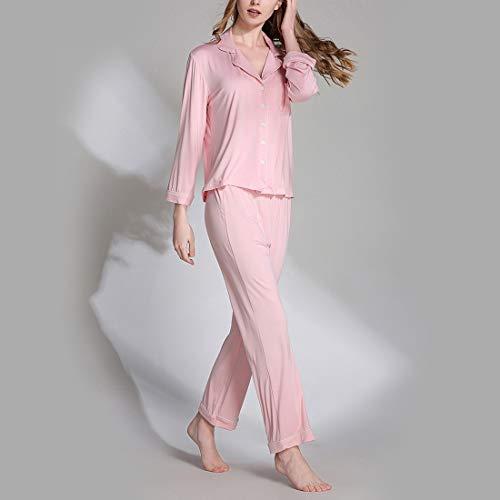 donna Rose Pigiama pigiama mod lunghe Pink Plus V Color maniche pigiami di scollo a L set maglia con per red a pantaloni Size MALLTY a da lavorato Size vZHgdWpqq