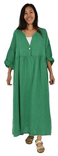 Design 3 LA500 Mein 4 Kleid Bohemian Grün Lagenlook de Mallorca Arm Damen 6wTqdU
