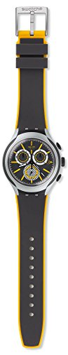 Swatch Bee-Droid Black & Yellow Dial Aluminum Rubber Men's Quartz Watch ()