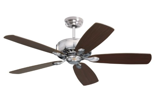 Emerson CF900BS Prima Energy Star Indoor Ceiling Fan, 52-Inch Blade Span, Brushed Steel Finish and Dark Cherry/Chocolate Blades Cherry Brushed Steel
