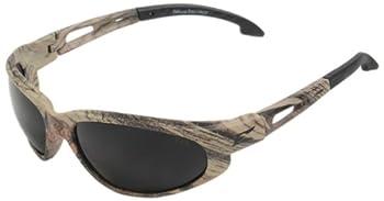 Edge Eyewear SW116CF Dakura Safety Glasses, Camouflage with Smoke Lens