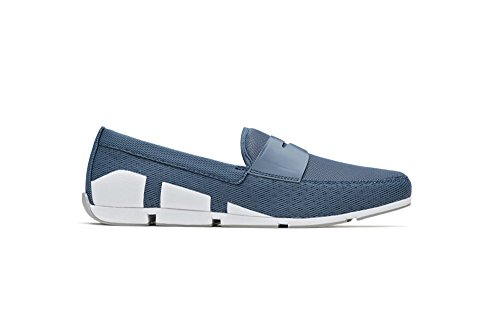 SWIMS Breeze Penny Loafer In Slate White/Light Gray, Size 10 by SWIMS