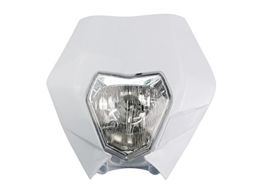 Motorcycle Head Lights Headlights Headlamp with LED Turning Light for KTM Kawasaki Honda Yamaha Suzuki Enduro Supermoto Dirt Pit Bike Motocross Rubber Cylinder Head Mount
