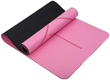 Yoga mat ヨガマット-あらゆる種類のヨガ、ピラティス、フロアトレーニング用の環境に優しい滑り止めトレーニングマットとフィットネスマットをアップグレード workout (色 : Pink)