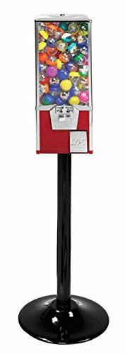 25'' Big Pro (2'' Toy Capsule) Vending Machine (RED) with Stand by Gumball Machachine Factory (Image #1)