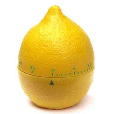 Amarillo Limón con forma de 60 minutos cocina para cocinar temporizador mecánico