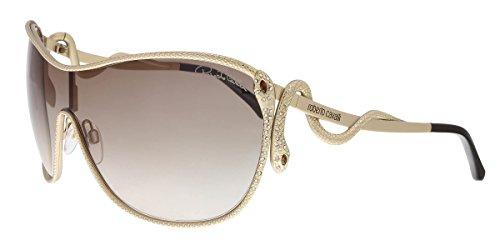 Roberto Cavalli Sunglasses Miaplacidus 908S 28W 120x02 Rose Gold Brown - Cavalli Sunglass Roberto