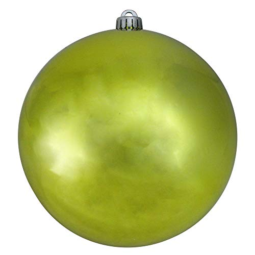 Northlight Shatterproof Shiny Lime Green UV Resistant Commercial Christmas Ball Ornament 8