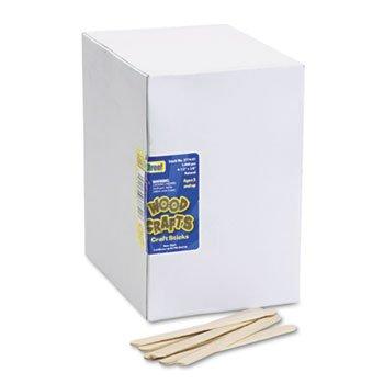 Chenille Kraft 377401 Natural Wood Craft Sticks, 4 1/2 x 3/8, Wood, Natural, 1000/Box (CKC377401)