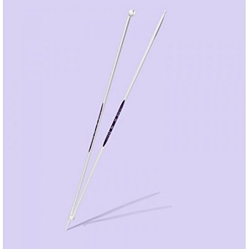 Multi-Colour Metal 7 mm 1-Pair Prym Single-Point Ergonomic Knitting Pins//Needles 40 cm Length