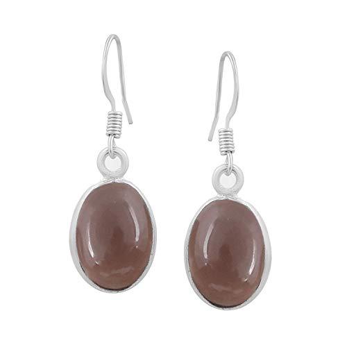 Smoky Quartz Dangle Earrings 925 Silver Plated Handmade Jewelry For Women - Jewelry Quartz Smoky