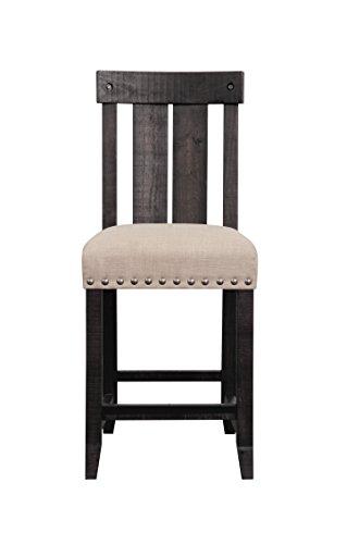 Modus Furniture 7YC970W Yosemite Wood Stool, Black Pine