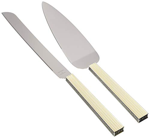 Wedgwood 40019718 with Love Nouveau Cake Knife & Server Set, Silver