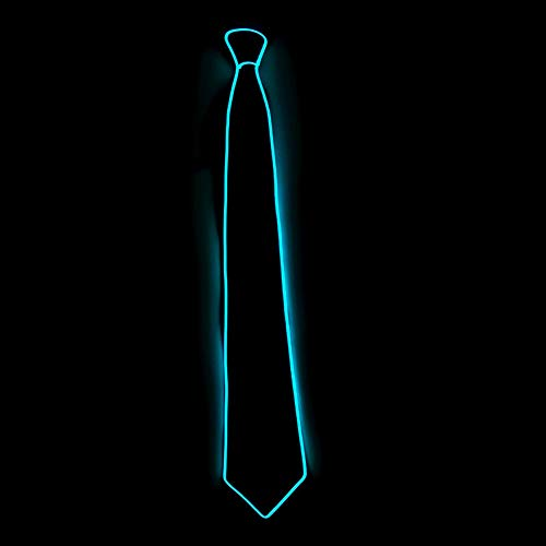 Novelty Luminous Necktie Battery Operated LED Light Up Glowing Tie for Rave Party