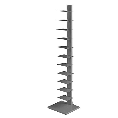 e Metal Frame Small Shelves Tiers Multipurpose Free Standing Utility Spine Stand Silver Home & Office Furniture Stylish Modern Storage Space & eBook Easy&FunDeals ()
