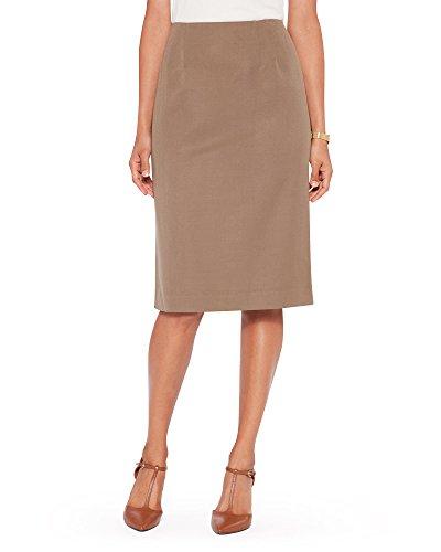Pendleton Women's Seasonless Wool Gabardine Pencil Skirt, 16, Beige