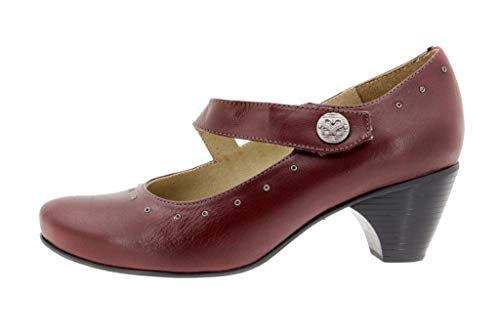Comfort Mary Pelle Speciale Scarpe Bordeaux Donna Larghezza Piesanto 9403 Jean Casual qwXaEpptF