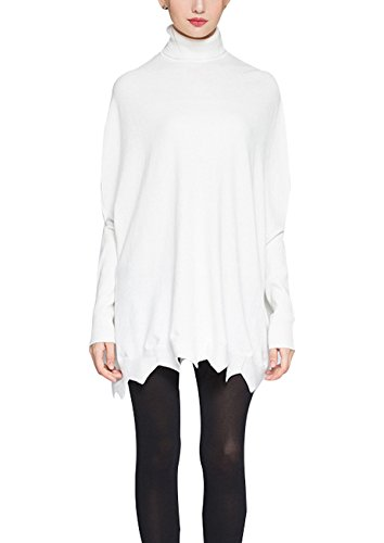 Turtleneck Batwing Oversized Pullover Sweaters