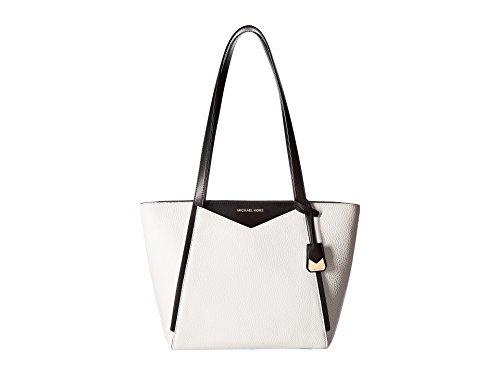 - MICHAEL Michael Kors Whitney Medium Pebble Leather Tote Bag, Optic White Black