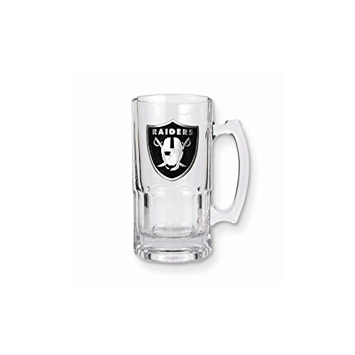 NFL Raiders 1-liter Glass Macho Tankard