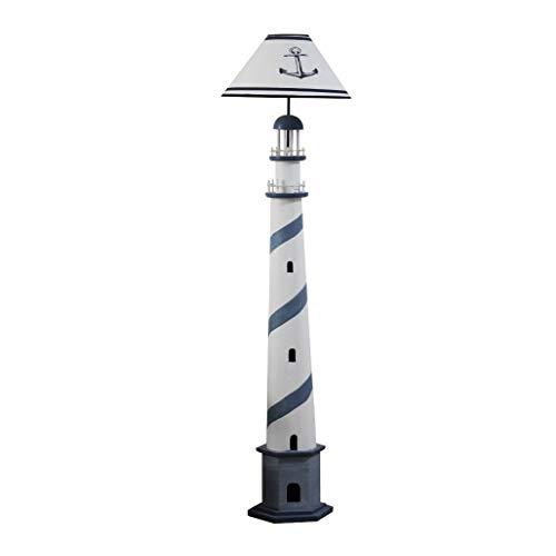 ⛔ Mediterranean Blue Ocean Lighthouse Floor Lamp Living Room Bedroom Creative Light Simple Study Storage Storage CD Rack ~0520