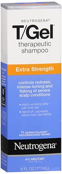 Neutrogena T-Gel Therapeutic Shampoo, Extra Strength, Clean Scent, 6 Ounce (4 PACK)