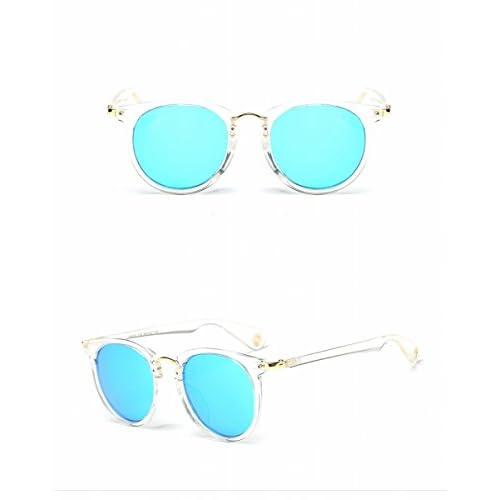 3d4db2c120 ... Espejo Transparente Marco Azul Hielo Lente De alta calidad. Gafas de Sol  Masculinas Y Femeninas de la Manera Polarizadas Gafas de Sol Marco Retro Que