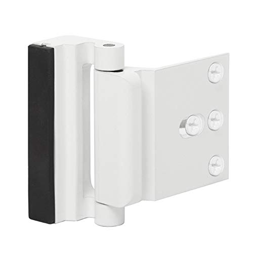 Door Reinforcement Lock Childproof Door Guardian with 4 Screws for Inward Swinging Door-Add Extra,High Security to Your Home|Prevent Unauthorized Entry-3