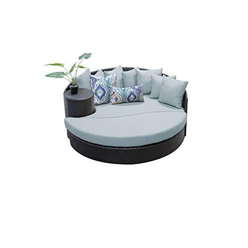 TK Classics Barbados Circular Sun Bed - Outdoor Wicker Patio Furniture