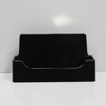 5 black plastic business card holder display desktop countertop - Plastic Business Card Holders