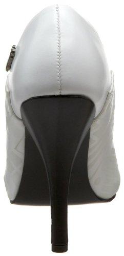 Demonia - zapatos de tacón mujer, color blanco, talla 36