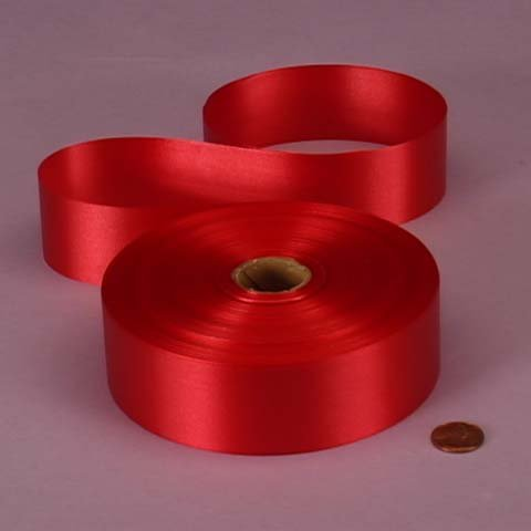 Red Embossed Poly Satin Ribbon, 4433730 by Paper ()