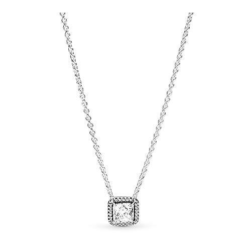 PANDORA Timeless Elegance Necklace, Sterling Silver, Clear Cubic Zirconia, 17.8 IN