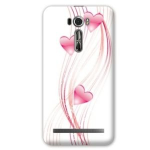 Case Schale Asus Zenfone 2 Laser ZE500KL / ZE 500 KL amour - - coque blanche coeur rose montant