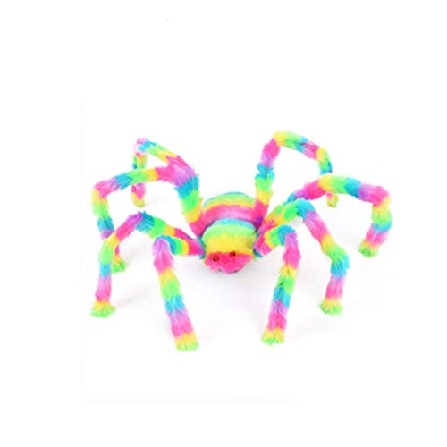 Cinhent Toys, Novelty Small Lifelike Hairy Spider Halloween Decor Party Interesting Tricky Decoration, Haunted House Prop Indoor Outdoor Kids Adults Game Plush Gifts (90 cm)