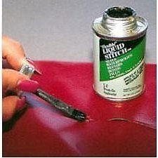 NEW Flexible Liquid Stitch Repair Leather, Vinyl & Fab By Money Save Shop (Leather Silver Liquid)