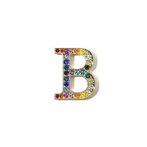Sonix Crystal Embellished Metal Alphabet Letter Sticker - Rainbow (B) ()