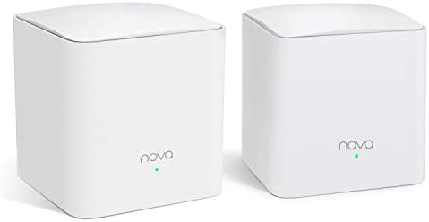 Tenda NOVA Mw5S 2-Pack Wall-Plug Whole Home Mesh WiFi System, Coverage Up to 2, 500 Sq. Ft, Plug and Play, Router WiFi Extender Replacement, Gigabit Connection to Your Cable Modem
