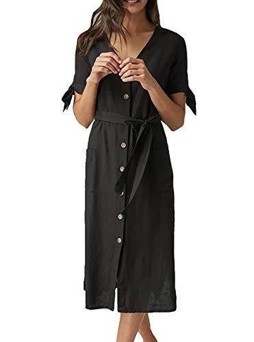 Bestyou Women's Rayon Swimsuit Cover up Kimono Cardigan Beach Tunic Free Size (Black 2)