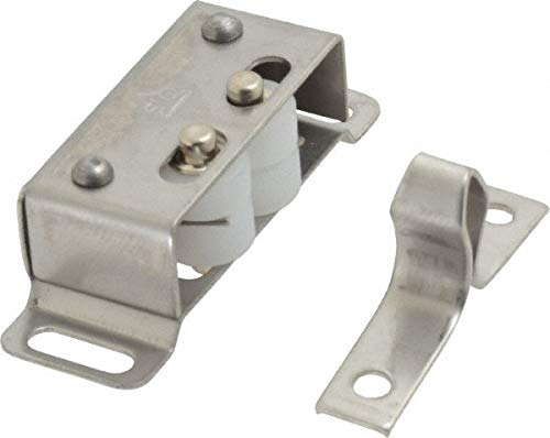 1-55/64'' Long x 39/64'' Wide x 19/32'' High, Plastic & Stainless Steel Roller catch pack of 10