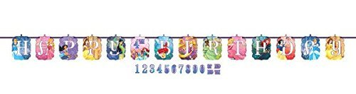 Disney Princess Dream Big Kids Birthday Party Jumbo Add An Age Letter Banner 10 Ft. (1ct) (Streamer Princess)